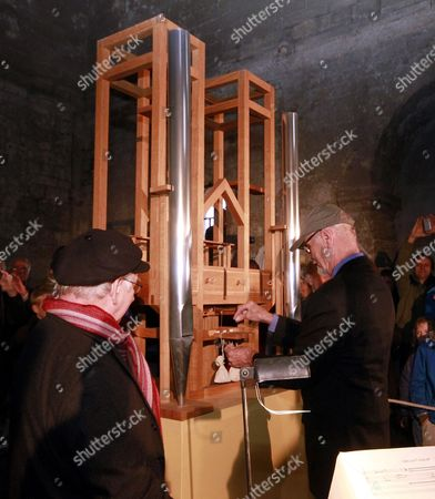 Us Organist Ray Kass (r) and California-based Artist Pierre Hebert Stand Next to the Organ in Sankt Burchardi Church in Halberstadt Germany 05 October 2013 They Perform a Piece by John Cage Lasting About 639 Years in the Art Project 'As Slow As Possible' Which Started on 05 September 2001 Today a Change of Note Took Place Germany Halberstadt