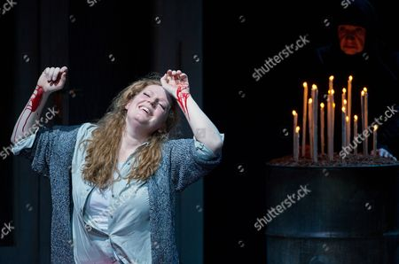 Dutch Soprano Eva-maria Westbroek (katja) Performs During a Rehearsal For the Opera 'Katja Kabanowa' on Stage at the Staatsoper in Schiller Theater in Berlin Germany 20 January 2014 the Opera Directed by Leos Janacek Will Be Premiere on 25 January 2014 Germany Berlin