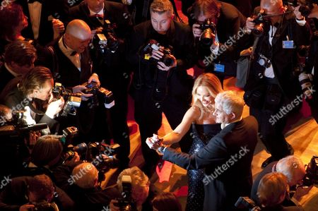 Italian Actress Ornella Muti Dances with the First Chairman of the Semper Opera Ball Hans-joachim Frey at the 7th Semper Opera Ball in Dresden Germany 20 January 2012 According to Reports Over 2 200 Guests Attended the Event Germany Berlin