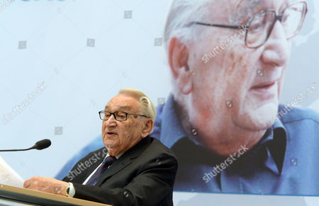 Former Politician and Journalist Egon Bahr Delivers a Speech Titled 'Something Outmoded About the Freedom of Europe' at the Friedrich-ebert-foundation in Berlin Germany 16 April 2012 Germany Berlin