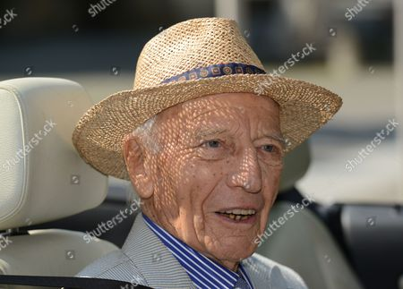 Former German President Walter Scheel Arrives in a Cabrio For a Reception in Celebration of His 94th Birthday in Bad Krozingen Germany 08 July 2013 Scheel Served As President of the Federal Republic of Germany From 1974 to 1979 Germany Bad Krozingen
