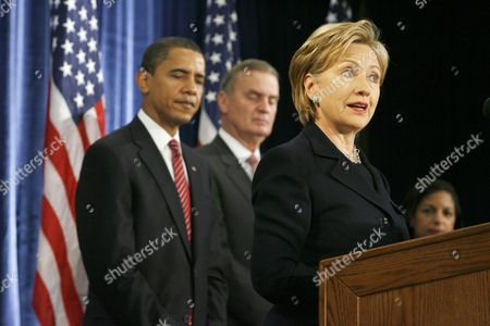 President-Elect Barack Obama, retired Marine General James L. Jones as National Security Advisor, and Hillary Clinton, for Secretary of State