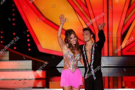 Stock Photo of Tv Presenter and Actress Gulcan Kamps (l) and Dancer Nikita Bazev During the Rtl Television Show Let's Dance at the Coloneum in Cologne Germany 05 April 2013 Germany Cologne