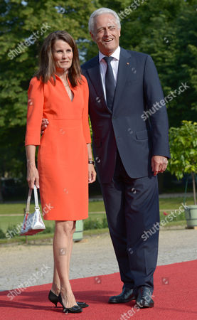 Federal Ministry of Transport Building and Urban Development Peter Ramsauer (r) and His Wife Susanne Arrive For a Dinner at the Charlottenburg Palace in Berlin Germany 19 June 2013 a State Dinner was Arranged on the Occasion of Us President Barack Obama's Visit to Berlin His First Visit As Us President Germany Berlin