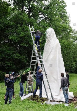 A Big Sculpture by Thai Artists Chai Siri and Apichatpong Weerasethakul is Installed at Auepark Some Days Before the Opening of Documenta 13 in Kassel Germany 05 June 2012 It is Part of Documenta 13 Which Will Kick Off on 09 June Germany Kassel