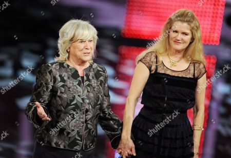 German Filmmaker Margarethe Von Trotta (l) Holds Hands with German Actress Barbara Sukowa (r) Onstage During the Bavarian Film Awards Ceremony at the Prince Regent's Theatre in Munich Germany 18 January 2013 Von Trotta Received an Honorary Award During the Ceremony and Sukowa the 'Best Actress' Award For Her Performance in Von Trotta's Movie 'Hannah Arendt' Germany Munch
