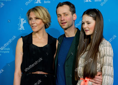 (l-r) Austrian Actress Franziska Weisz German Actors Florian Stetter and Lea Van Acken Pose During the Photocall 'Kreuzweg' (stations of the Cross) at the 64th Annual Berlin Film Festival in Berlin Germany 09 February 2014 the Movie is Presented in the Official Competition of the Berlinale Which Runs From 06 to 16 February 2014 Germany Berlin