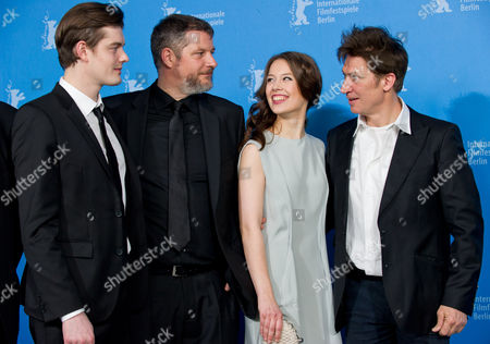 Stock Photo of British Actor Sam Riley (l-r) Austrian Director Andreas Prochaska German Actress Paula Beer and Austrian Actor Tobias Moretti Pose During the Photocall For 'Das Finstere Tal' (the Dark Valley) at the 64th Annual Berlin Film Festival in Berlin Germany 10 February 2014 the Movie is Presented in the Berlinale Special Gala Section the Event Runs From 06 to 16 February 2014 Germany Berlin