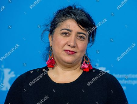 Austrian Film Maker Sudabeh Mortezai Poses During the Photocall For the Movie 'Macondo' at the 64tháberlin Film Festival in Berlin ágermany 14 February 2014 the Movie is Presented in the Official Competition of the Berlinale Which Runs From 06 to 16 February 2014 Germany Berlin