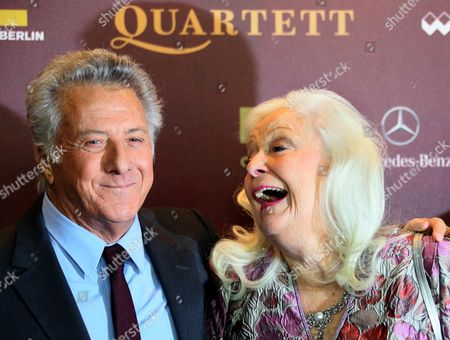Us Actor and Director Dustin Hoffman (l) and Welsh Soprano and Cast Member Dame Gwyneth Jones Arrive For the Premiere of His New Movie 'Quartet' at Deutsche Oper in Berlin Germany 20 January 2013 the Movie Will Be Released in German Cinemas on 24 January Germany Berlin