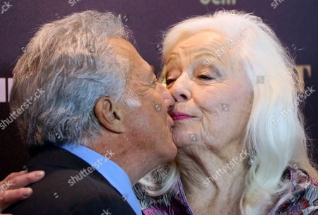 Us Actor and Director Dustin Hoffman (l) Kisses Welsh Soprano and Cast Member Dame Gwyneth Jones As They Arrive For the Premiere of 'Quartet' at Deutsche Oper in Berlin Germany 20 January 2013 the Movie Will Be Released in German Cinemas on 24 January Germany Berlin