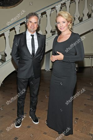 Us Director and Producer Lawrence David Foldes and German-croatian Soprano Iva Mihanovic Schell Pose Prior to the Awarding Ceremony of the 'The Bridge - German Cinema Award For Peace 2014' in Munich Germany 03 July 2014 the Prize is Awarded on Occasion of the 32nd Annual Munich Film Festival That Runs From 27 June to 05 July Germany Munich