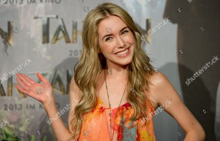 Us Actress Spencer Locke Poses During a Photocall For the Movie 'Tarzan' at Bavaria Film Studios in Munich Germany 05 June 2012 Constantin Film Produktion is Breathing New Life Into Tarzan Exactly 100 Years After Its Creation Germany Munich