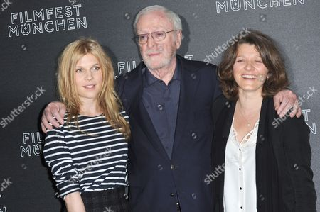 British Actor Michael Caine (c) German Director Sandra Nettelbeck (r) and French Actress Clemence Poesy (l) Arrive For the Premiere of Their Film 'Mr Morgan's Last Love' at the 31st Munich Film Festival at the Festival Center Gasteig in Munich Germany 29 June 2013 the Festival Runs From 28 June to 06 July Germany Munich