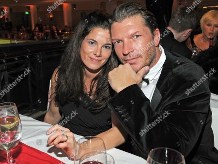 German Actor Hardy Krueger Jr and His Wife Katrin Pose at the German Film Ball in Munich Germany 21 January 2012 Germany Munich