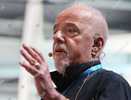 Brazilian Author Paulo Coelho Talks at the Campus Party Europe in Berlin Germany 22 August 2012 Coelho Called For the Publishing Sector to Accept the Changes Caused by the Internet and to Move Away From a Rigid Copyright Mentality at the Technology Festival Germany Berlin