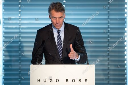 Hugo Boss Chairman of the Managing Board Claus-dietrich Lahrs Speaks at the Financial Statement Press Conference in the Headquarters of the German Fashion House in Metzingen Germany 13 March 2013 Hugo Boss Presented Its 2013 Results on 13 March Germany Metzingen