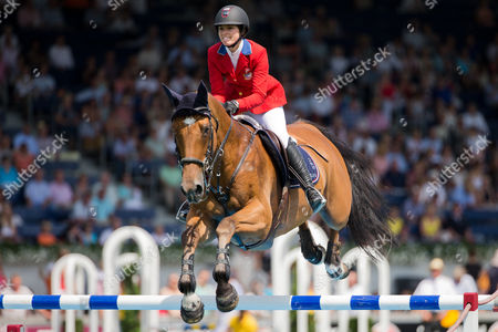 Us American Rider Reed Kessler on Her Horse 'Cos i Can' Competes During the Chio Horse Show in Aachen Germany 18 July 2014 Germany Aachen