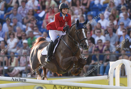 Us Rider Reed Kessler on Her Horse Cylana Competes During the Chio Horse Show in Aachen Germany 17 July 2014 Germany Aachen