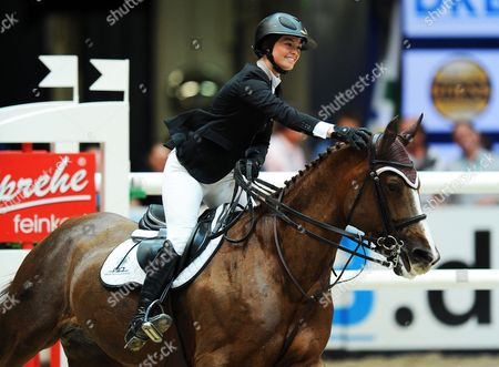 Reed Kessler of the Usa on 'Cylana' Celebrates After Winning the Munich Indoors Show Jumping Event As Part of the Riders Tour in Munich ágermany 02 November 2013 Germany Munich