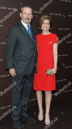 French Actress Sarah Biasini and Patrick-louis Vuitton Pose at the Opening of a New Store of the French Fashion Label Louis Vuitton in Munich Germany 23 April 2013 Germany Munich
