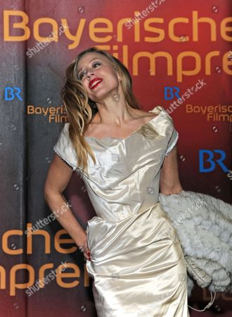 Austrian Actress Nina Proll Arrives at the Bavarian Film Prize Ceremony in Munich Germany 17 January 2014 the Bavarian Film Prize is One of the Most Prestigious Ones in German Cinema Industry Germany Munich