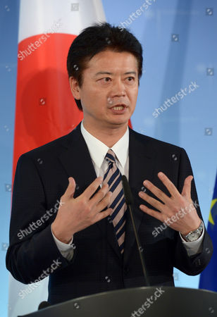 Japanese Foreign Minister Koichiro Gemba Holds a Press Conference with His German Counterpart Guido Westerwelle (not Pictured) at the Foreign Office in Berlin Germany 19 October 2012 Germany Berlin