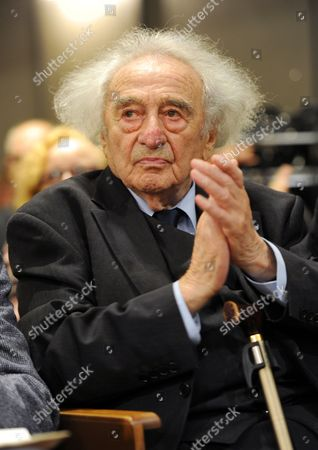 Writer and Holocaust Survivor Max Mannheimer Attends the Ceremony of the 34th Geschwister Scholl Prize at the Ludwig Maximilians-university in Munich Germany 18 November 2013 Israeli Historian and Holocaust Survivor Otto Dov Kulka was Awarded For His Book 'Landschaften Der Metropole Des Todes' (landscapes of the Metropolis of Death: Reflections on Memory and Imagination) Germany Munich