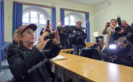 German Actor Martin Semmelrogge (l) Photographs the Court Room of the Regional Court in Nuremberg Germany 28 November 2012 He is Accused of Driving Without Driver's License Germany Nuremberg