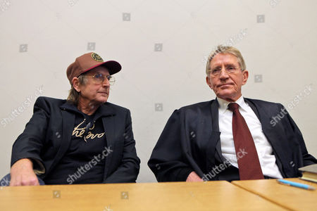 German Actor Martin Semmelrogge (l) Sits Next His Lawyer Werner Saeftel in the Court Room of the Regional Court in Nuremberg Germany 28 November 2012 He is Accused of Driving Without Driver's License Germany Nuremberg