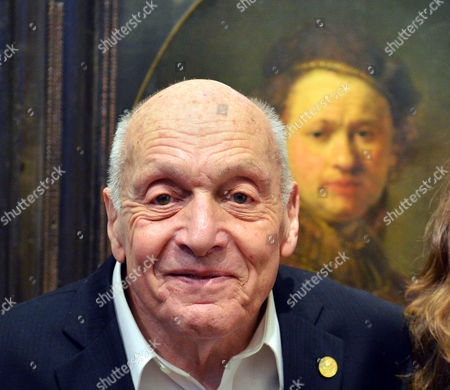 German Harry Ettlinger Poses in Front of the Painting 'Self-portrait' by Dutch Artist Rembrandt at the Kunsthalle Museum in Karlsruhe Germany 15 February 2014 As Member of the Monuments Fine Arts and Archives Program Aka Monuments Men Ettlinger Found the Rembrandt Self-portrait After the War in a Gallery Near Heilbronn Germany the Artpiece Which Hung in the Kunsthalle Karlsruhe Before Its Storage is Said to Have Been Familiar to Ettlinger From His Childhood Days As the Last Living 'Monument Man' Ettlinger Will Receive the Golden Staufer Medal From the German State of Baden-wuerttemberg the Monuments Men Program was Established by the Allied Armies in 1943 to Protect Cultural Property During and After World War Ii Germany Karlsruhe