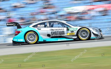 Spanish Dtm Driver Daniel Juncadella From Petronas Mercedes Amg Races in a Mercedes Amg C-coup? During the First Race of the Season For the German Touring Car Masters (dtm) at the Hockenheimring in Hockenheim ágermany 04 May 2014 Germany Hockenheim