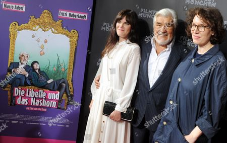 German Actors Fritzi Haberlandt (l-r) and Mario Adorf and German Director Lola Randl Attend the Premiere of Their Movie 'Die Libelle Und Das Nashorn' (the Dragonfly and the Rhinoceros) at the Arri Movie Theater During the Munich Film Festival in Munich Germany 02 July 2012 the Festival Runs Until 07 July Germany Munich