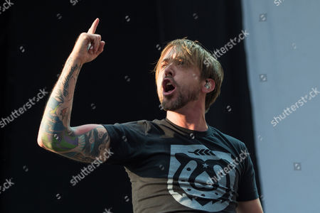 Canadian Singer Benjamin Kowalewicz of the Band 'Billy Talent' Performs During the Music Festival 'Rock 'N' Heim' at the Hockenheimring in Hockenheim ágermany 15áaugust 2014 the Festival Runs From 15-17 August Germany Hockenheim