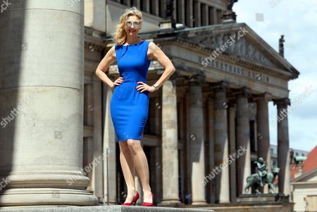 Austrian Soprano Singer Eva Lind Poses For Photographers After a Press Conference on the 23rd Classic Open Air Festival at the Gendarmenmarkt Square in Berlin Germany 12 June 2014 the Festival Will Run From 03 July to 08 July Germany Berlin