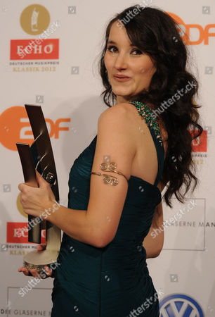 Austrian - British Singer Singer Anna Prohaska with Her Echo Klassik Award in the Category 'Emerging Vocal Artist' in Berlin Germany 14 October 2012 the Echo Klassik is a German Award For Productions and Artists From the Field of Classical Music Germany Berlin