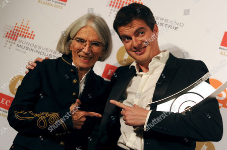 Us Author Donna Leon (l) and French Sopranist Countertenor Singer Philippe Jaroussky Arrive at the Award Ceremony of the Echo Klassik in Berlin Germany 14 October 2012 Leon was Invited to Give a Speech at the Event and Jaroussky was Awarded in the Category 'Best Opera Recording of the Year' the Echo Klassik is a German Award For Productions and Artists From the Field of Classical Music Germany Berlin