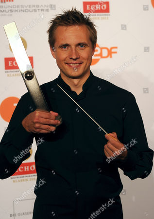 Russian Conductor Vasily Petrenko with His Echo Klassik Award in the Conducting Category in Berlin Germany 14 October 2012 the Echo Klassik is a German Award For Productions and Artists From the Field of Classical Music Germany Berlin