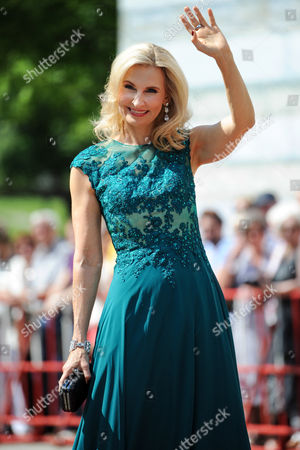 Austrian Soprano Eva Lind Arrives For the Opening of the 103th Bayreuth Festival in Bayreuth Germany 25 July 2014 the Richard Wagner Festival Opens on 25 July and Runs to 28 August Germany Bayreuth
