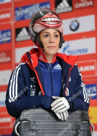 British Skeleton Racer Shelley Rudman Waits For Her Run During a Pratice Session For the Women's Skeleton World Cup in Koenigssee Germany 23 January 2014 Germany Koenigssee