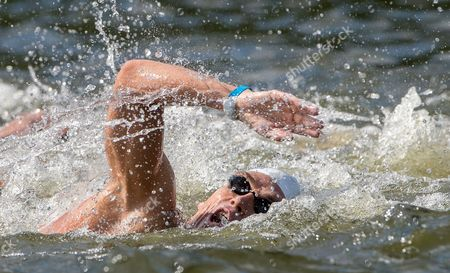 Spyridon Gianniotis From Greece Competes in the Men's 10km Open Water Final During the 32nd Len European Swimming Championships 2014 at the Gruenau Course in Berlin Germany 14 August 2014 Germany Berlin