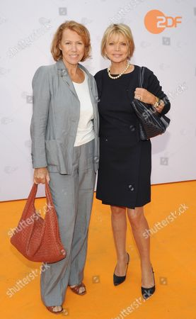 German Actress Uschi Glas (r)áand Austrian Actress Gaby Dohm (l) Arrive at Hugo's For the Zdfáget Together at the Film Festival Inámunich Germany 01 July 2014 the Festival Runs From 27 June to 05 July Germany Munich