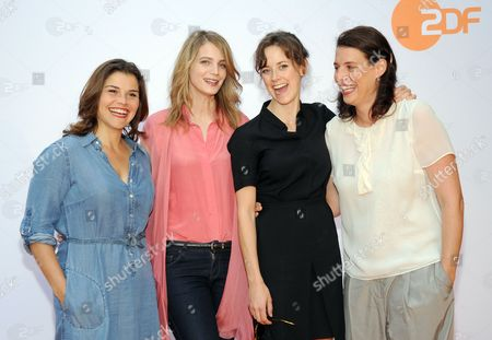 (l-r) German Actresses Katharina Wackernagel Rike Schmid Anja Knauer and Elena Uhlig Arrive at Hugo's For the Zdfáget Together at the Film Festival Inámunich Germany 01 July 2014 the Festival Runs From 27 June to 05 July Germany Munich