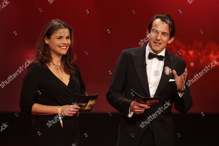 Actors Katharina Wackernagel (l) and Hans-werner Meyer Onstage During the German Television Awards Ceremony at the Coloneum in Cologne Germany 02 October 2012 Germany Cologne