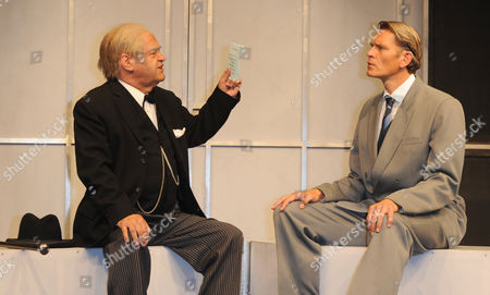 Editor-in-chief of the Weekly Newsmagazine Focus Helmut Markwort As Winston Churchill (l) and German Actor Goetz Otto As Bertie Herzog Von York (r) Perform During the Photo Rehearsals of the Piece 'Die Rede Des Koenigs' (the King's Speech) Held at Bayerischen Hof in Munich Germany 16 September 2013 the Play Will Premiere on 18 September and Will Run Until 02 November 2013 Germany Munich