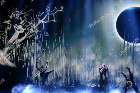 Elnur Huseynov Representing Azerbaijan Performs During the Second Semi-final of the 60th Annual Eurovision Song Contest (esc) at the Wiener Stadthalle in Vienna Austria 21 May 2015 the Events Grand Final Takes Place on 23 May Austria Vienna
