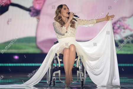 Singer Monika Kuszynska Representing Poland Performs During the Second Semi-final of the 60th Annual Eurovision Song Contest (esc) at the Wiener Stadthalle in Vienna Austria 21 May 2015 the Events Grand Final Takes Place on 23 May Austria Vienna