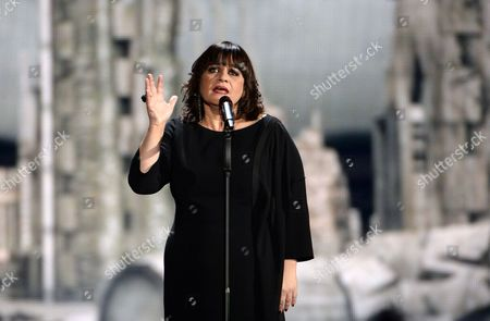Singer Lisa Angell Representing France Performs During the Grand Final of the 60th Annual Eurovision Song Contest (esc) at the Wiener Stadthalle in Vienna Austria 23 May 2015 There Are 27 Finalists From As Many Countries Competing in the Grand Final Austria Vienna