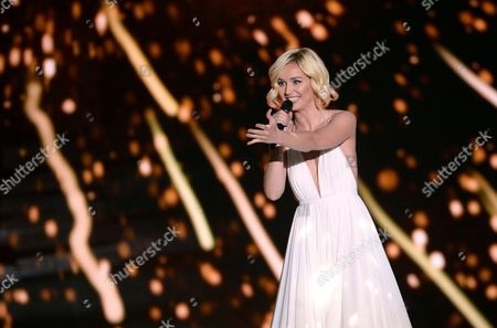 Singer Polina Gagarina Representing Russia Performs During the Grand Final of the 60th Annual Eurovision Song Contest (esc) at the Wiener Stadthalle in Vienna Austria 23 May 2015 There Are 27 Finalists From As Many Countries Competing in the Grand Final Austria Vienna
