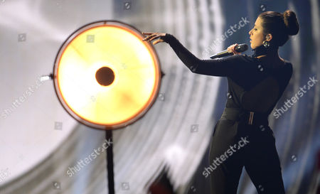 Singer Ann Sophie Representing Germany Performs During the Grand Final of the 60th Annual Eurovision Song Contest (esc) at the Wiener Stadthalle in Vienna Austria 23 May 2015 There Are 27 Finalists From As Many Countries Competing in the Grand Final Austria Vienna